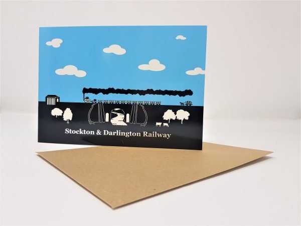 Stockton & Darlington Railway Skerne Bridge Foil Greetings Card
