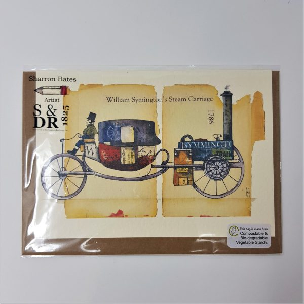 Print - William Symington's Steam Carriage.