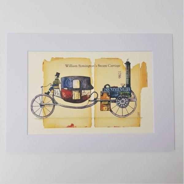 Print - William Symington's Steam Carriage.