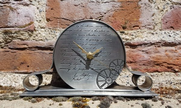 Stephenson Mantel Clock with Georgian brick background