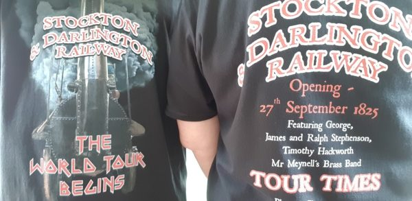 Front and back views of the S&DR tour T-Shirt