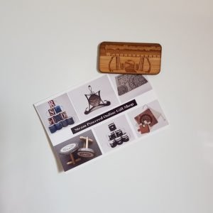 Fridge magnet with postcard