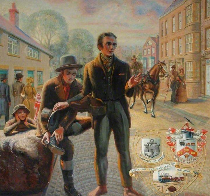 19th April 1821 THAT Meeting between George Stephenson, Nicholas Wood and Edward Pease in Darlington.