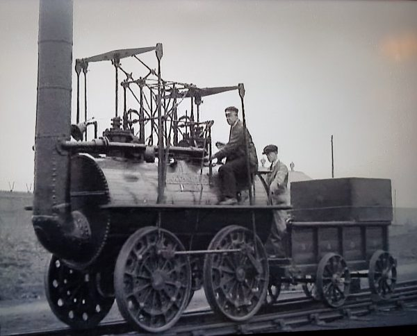 archival footage from DVD. Locomotion No.1 in 1925