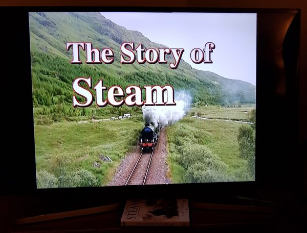 Opening credits of DVD on screen