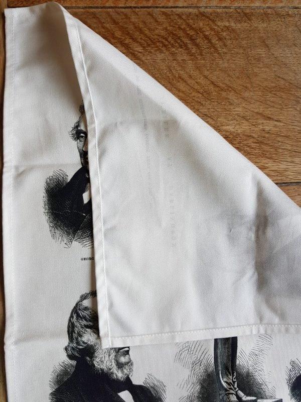 1875 celebrations tea towel showing the back